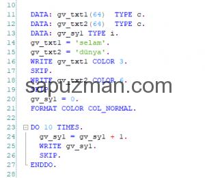 Abap programlama dili öğrenmek istiyorum