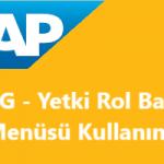 SAP BASIS - PFCG Yetki Rol Bakım Menüsü