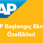 SAP Ekran Gezintisi, Başlangıç Ekranı