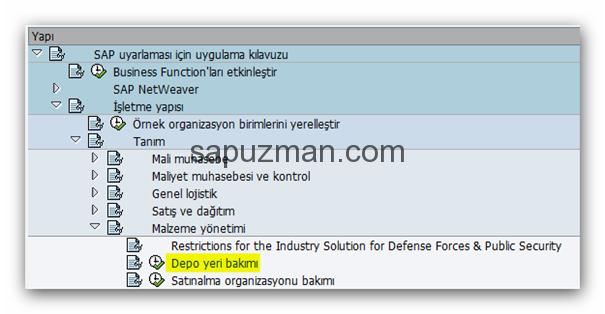 sap_depo_yeri_tanımlama_bakımı
