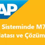M7109 SAP Hatası - xxx hesabına işlem anahtarı BSX için doğrudan kayıt yapılabilir