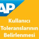 SAP Sisteminde Belge Girişlerinde Kullanıcı Toleranslarının Belirlenmesi