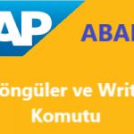 SAP Abap Programlama: Döngüler ve Write Komutu Kullanma