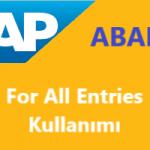 SAP ABAP For All Entries Nasıl Kullanılır