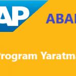 SAP Abap Programlama: Program Kodlama Structure ve Tabloya Değer Atama