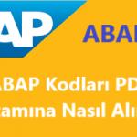 SAP ABAP Kodlarınızı PDF ortamına nasıl alabilir ve arşivleyebilirsiniz?
