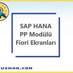 SAP S4 HANA ile Üretim Planlama ve Kontrol Modülü Fiori Ekranları