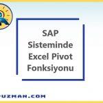 SE16H İşlem Kodu ile SAP Sisteminde Pivot Excel Oluşturma