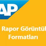 SAP Sisteminde Liste Görüntüsünü ALV Görüntüsüne Dönüştürme