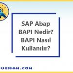 SAP BAPI(Business Application Programming Interface) Nedir? SAP BAPI Nasıl Kullanılır?