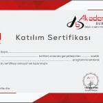 Akademi Bursa SAP Modül Eğitimi Katılım Sertifikası